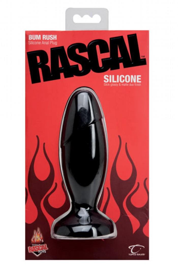 Anální silikonový kolík velký - BUM RUSH - Černá