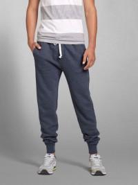 Pánské tepláky A&F Jogger Sweatpants - Modrá