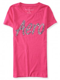 Dámské triko Aero Sequin Graphic T - Růžová