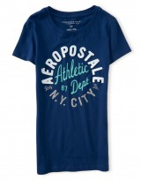 Dámské triko Aero Athletic Graphic T Shirt - Modrá