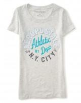 Dámské triko Aero Athletic Graphic T Shirt - Šedá