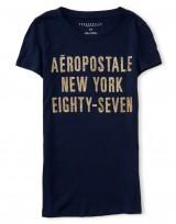 Dámské triko Aero NY 87 Graphic T Shirt - Tmavě Modrá