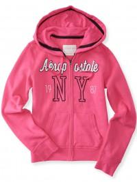 Dámská mikina NY Full-Zip Hoodie - Růžová
