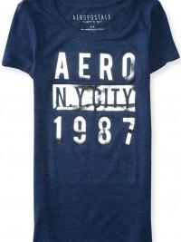 Dámské triko Aero Shimmer Block Graphic T Shirt - Modrá
