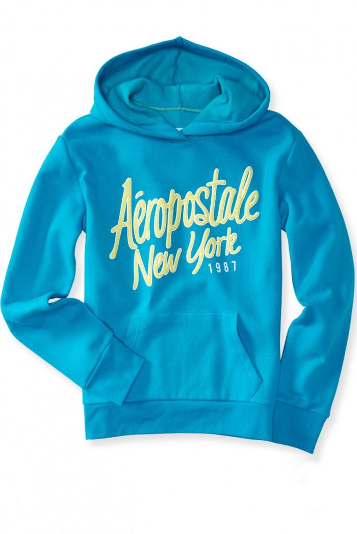 Dámská mikina NY Sparkle Hoodie - Modrá