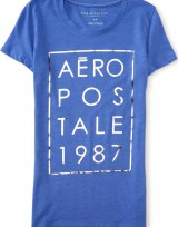 Dámské triko Aero 1987 Stacked Graphic T - Modrá