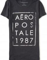 Dámské triko Aero 1987 Stacked Graphic T - Šedá
