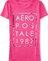 Dámské triko Aero 1987 Stacked Graphic T - Růžová