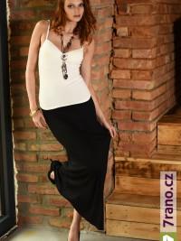 a605ab0d6620 Letní maxi sukně šaty Black Lines - Černá
