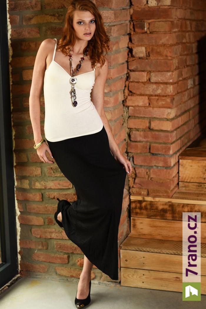 93cf45012 Letní maxi sukně/šaty Black Lines - Černá
