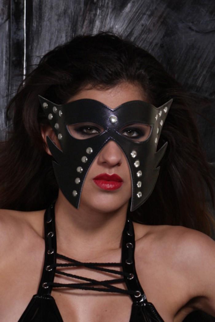 Kožená maska na oči Fantasy Studs