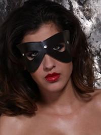 Kožená maska na oči Cat-eyed