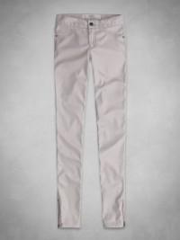 Dámské slim fit kalhoty z umělé kůže A&F - Béžová