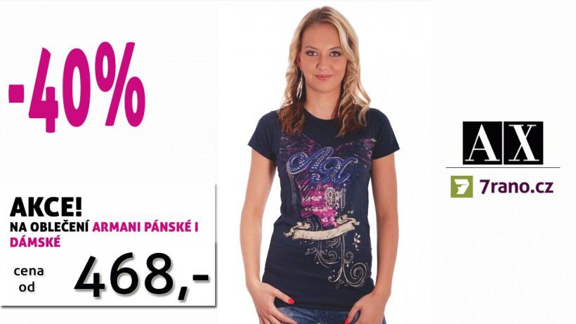 3df5b291cb39 Aktuální akce - 40% sleva na pánské i dámské luxusní oblečení Armani  Exchange