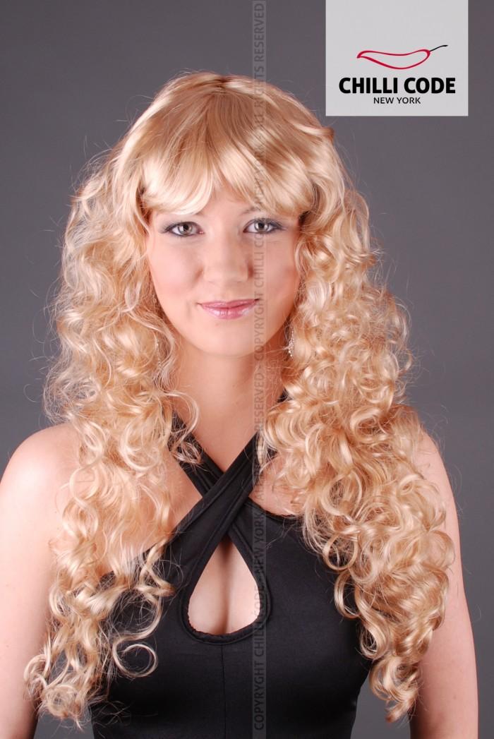 Párty paruka kudrnatá - Blond
