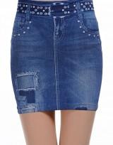 Minisukně Blue Jeans - Modrá