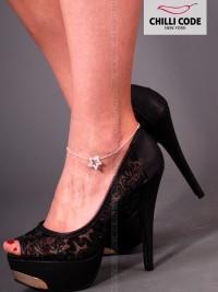 Štrasový řetízek na nohu - Hvězdička