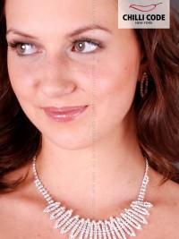 Štrasová sexy souprava Ellipse - náhrdelník a náušnice