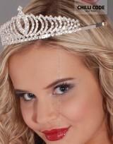 Štrasová korunka do vlasů s hřebínkem - Queen