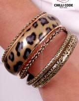 Sada náramků - Gold Leopard
