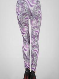 Dámské dlouhé legíny barevné - Violet Fantasy