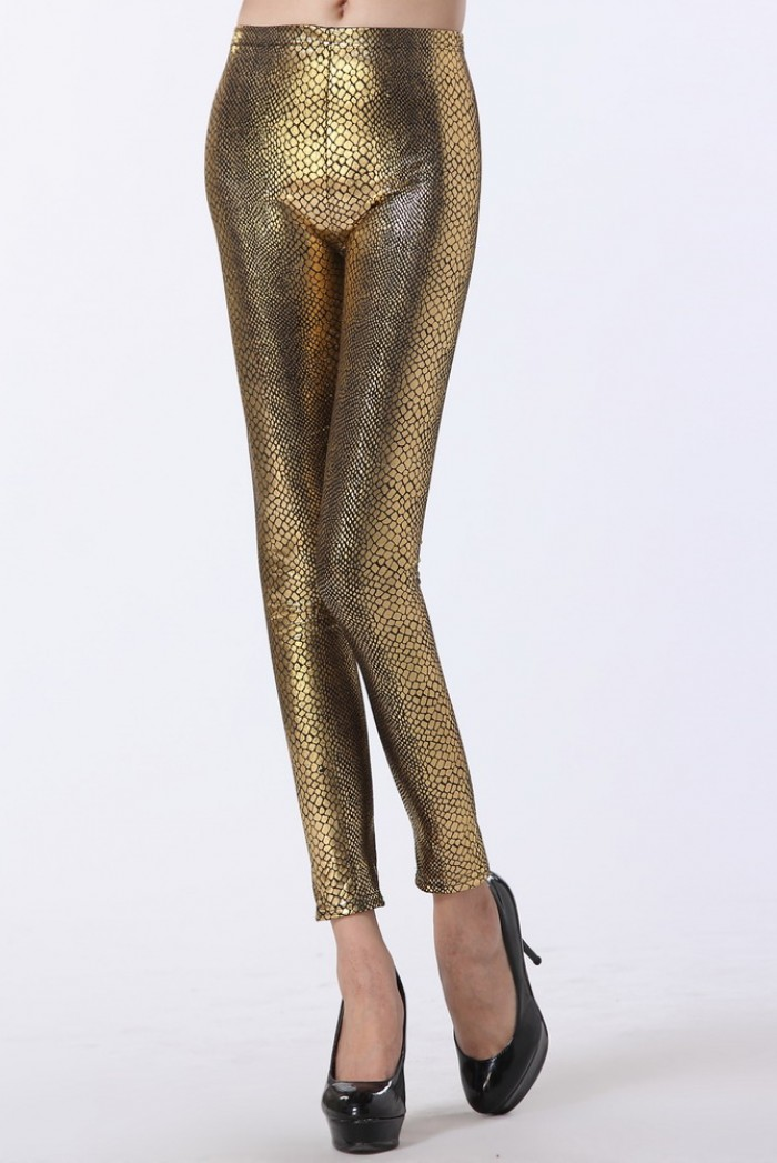Dámské metalické legíny Serpentine Gold