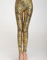 Dámské metalické legíny Gold Snake