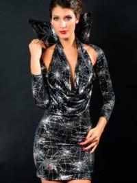 Sexy Halloweenský kostým Spider Queen - Černá