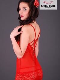 Noční košilka Babydoll Flaming - Červená