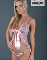 Noční košilka Babydoll Tender Pink - Růžová