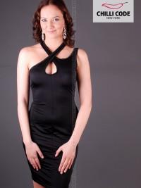 Sexy šaty Cross Tank - Černá