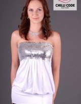 Sexy bandážové šaty, tunika Sequin - Bílá