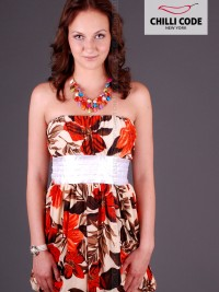 Sexy balónové šaty Bloom - Oranžová