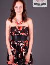 Sexy balónové šaty Bloom - Hnědá