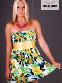 Sexy balónové šaty Bloom - Žlutá