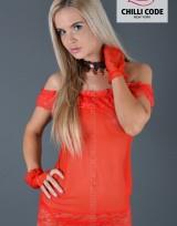 Noční košilka Babydoll Honey - Červená