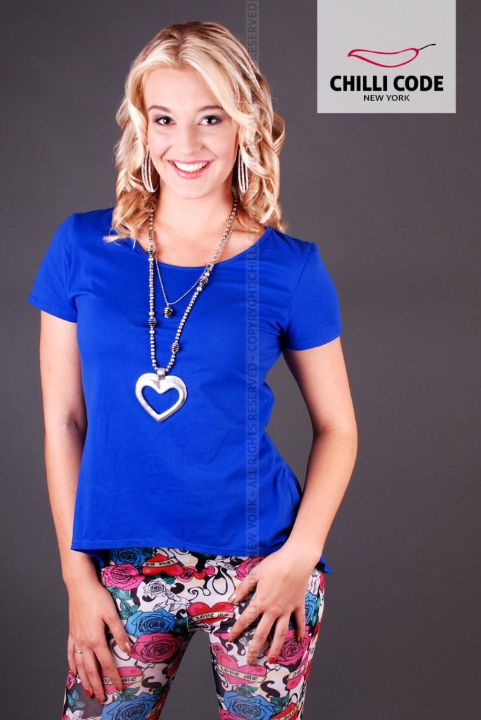 Dámské triko Elegant - Modrá
