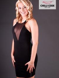 Sexy šaty Sheer Mesh - Černá