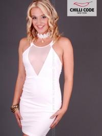 Sexy šaty Sheer Mesh - Bílá