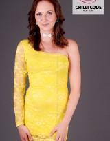 Krajkové šaty Mini dress - Žlutá Neon