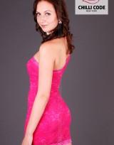 Krajkové šaty Mini dress - Růžová