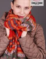 Maxi barevný šátek Orient - Červená