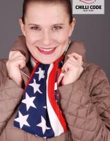 Barevná šála American flag