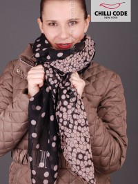 Maxi šátek s puntíky Bubbles - Černá