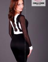 Pouzdrové šaty Back Strap  - Černá