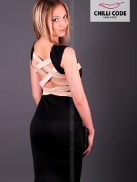 Sexy šaty Cross Back - Černá