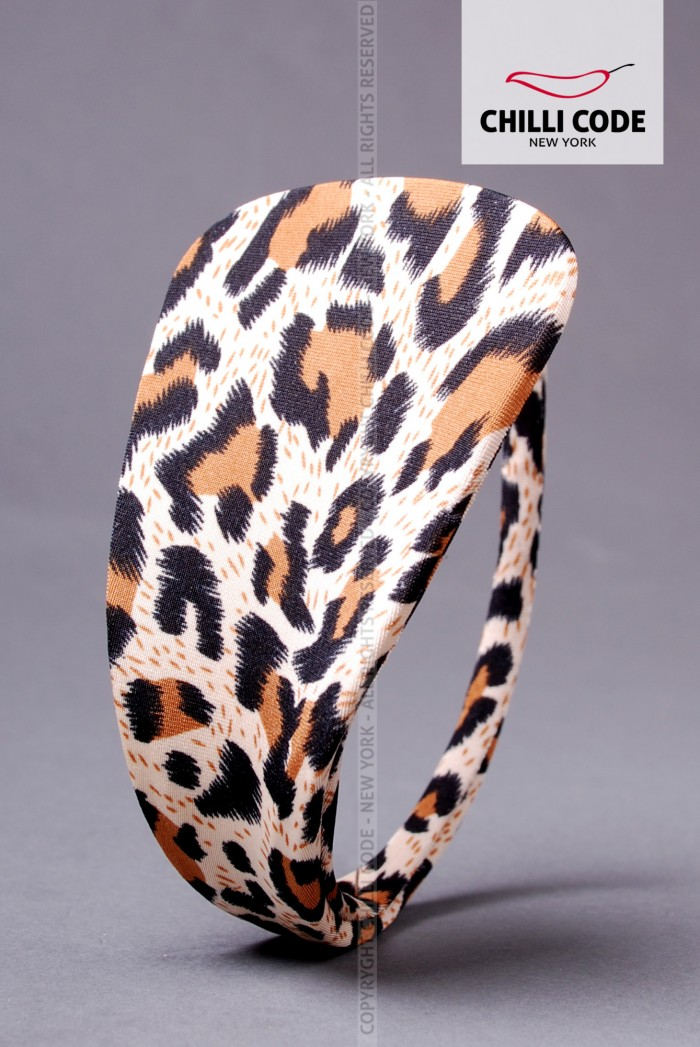 Dámská C string tanga - Leopard