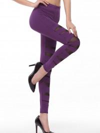 Dámské dlouhé legíny - Purple Stretch - Fialová