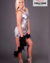 Sexy minišaty s flitry Sequin - Stříbrná