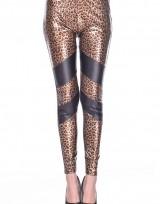 Dámské dlouhé legíny - Leopard - Black Back